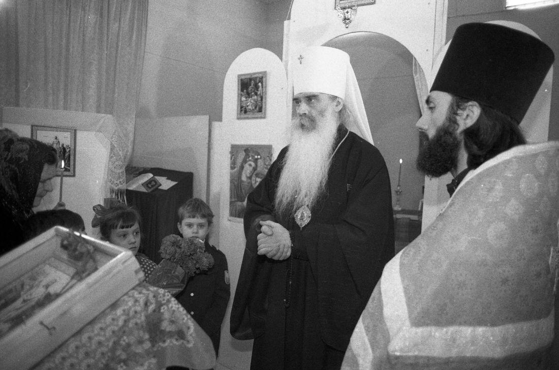 Владыко Питирим в Норильске с первым священником отцом Сергием (Шачиным)