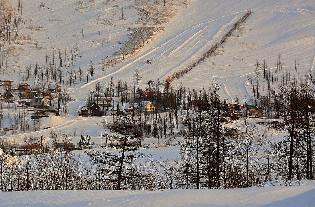 У подножия горы Отдельной, зима