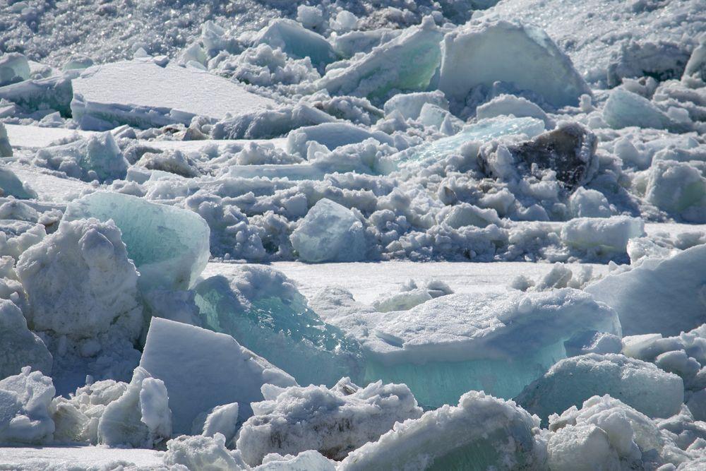 За ледоходом в Дудинке можно наблюдать онлайн