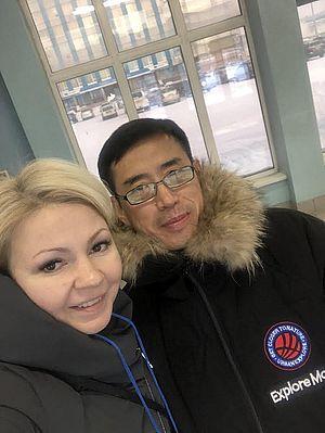 Ян Цивей с автором рубрики «Гостевая книга» Наталией Поповой