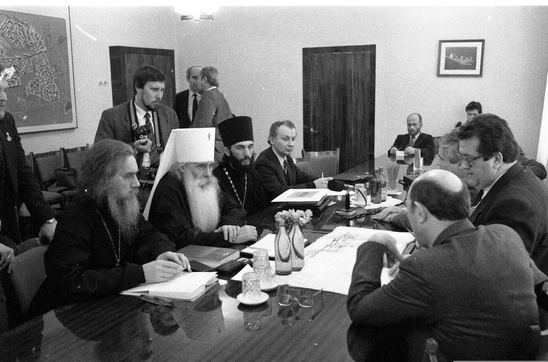 Встреча с директором Норильского комбината Анатолием Филатовым и градоначальником Юрием Смоловым