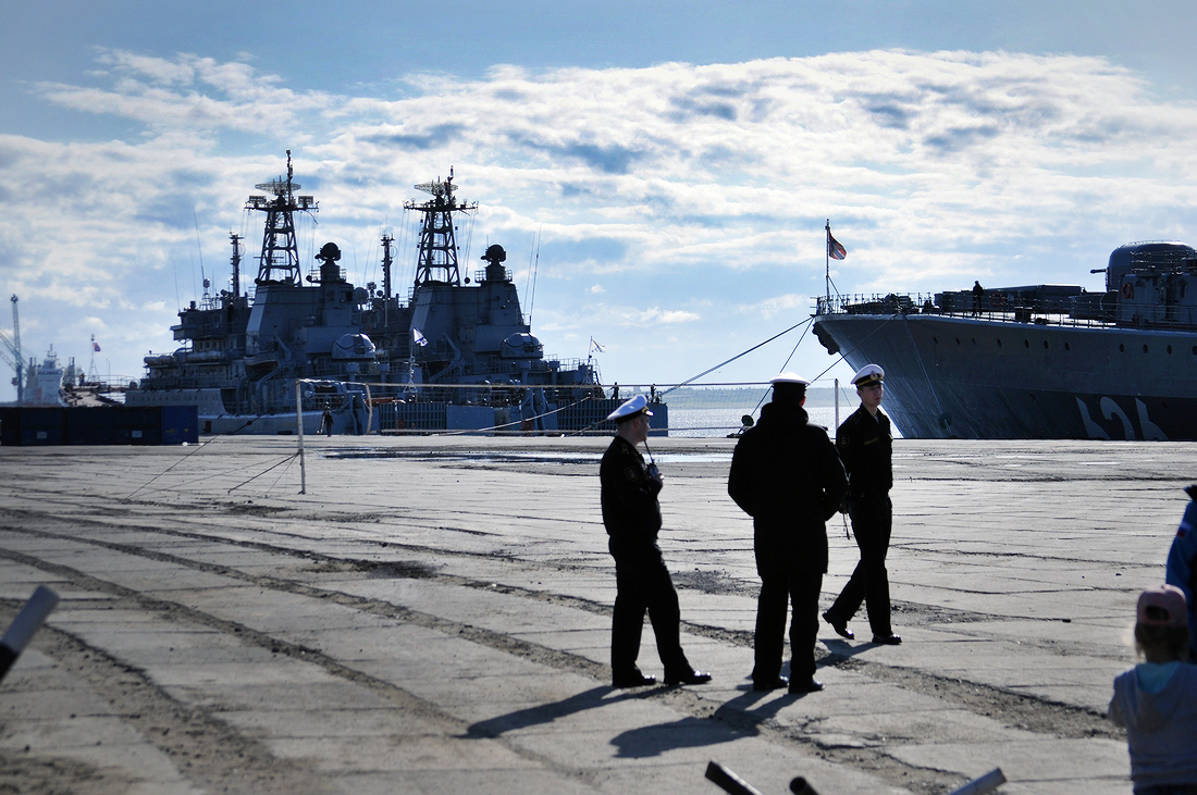 Больше двух недель стояли на Таймыре корабли Северного флота