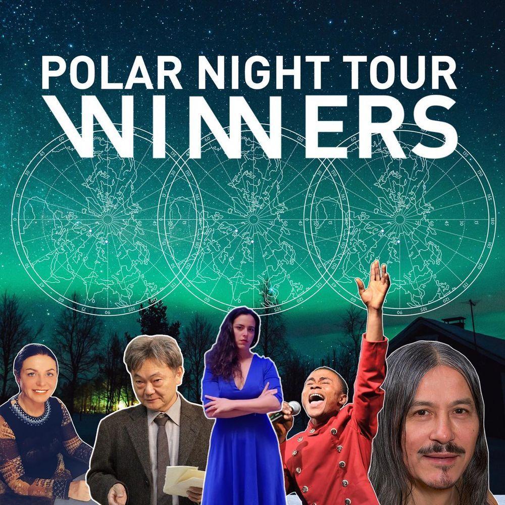 Участники Polar Night Tour – художники и путешественники из пяти стран мира
