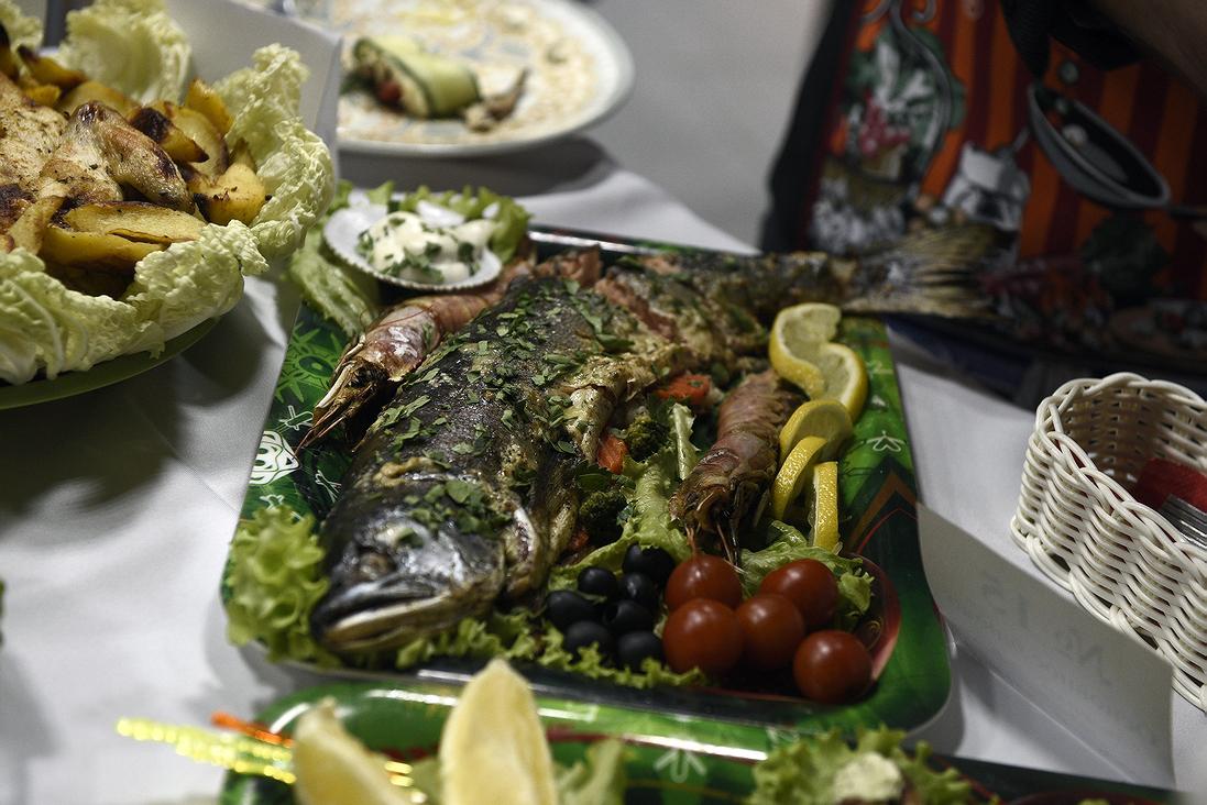 Блюдо Светланы Пилявец «Привет из морских глубин»