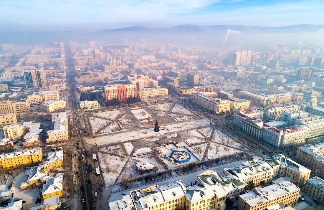 Главная площадь Читы – площадь Ленина