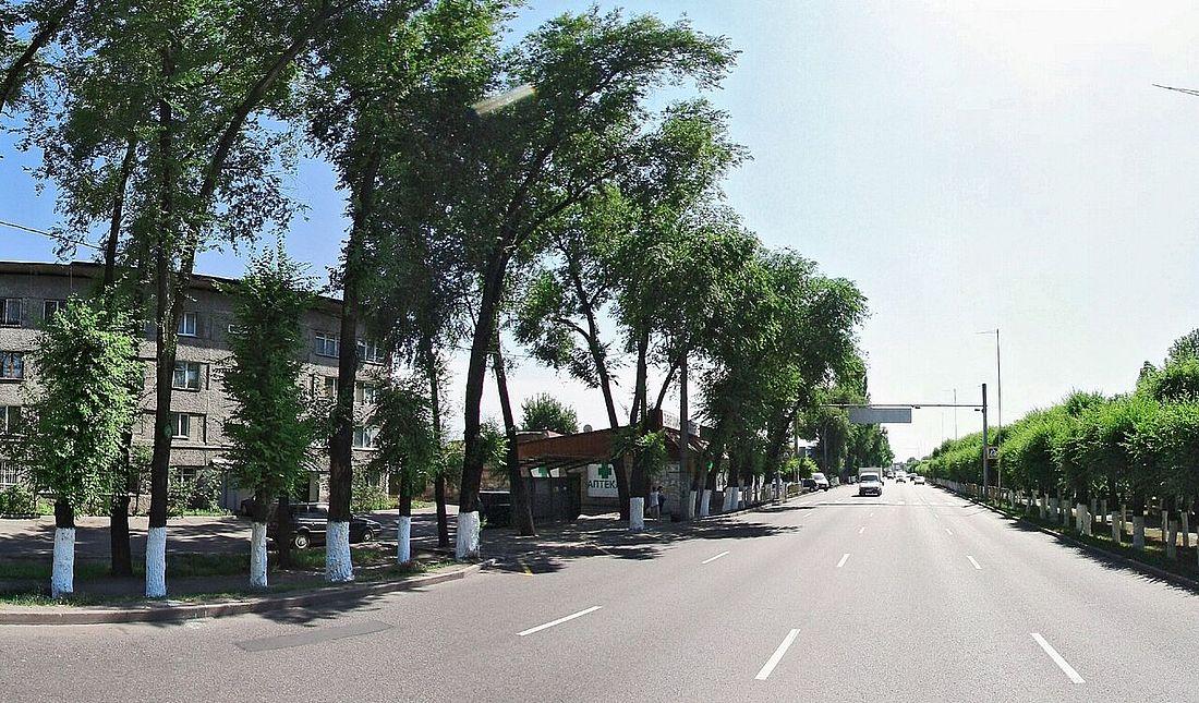 Улица Майлина, на которую выходит Норильская
