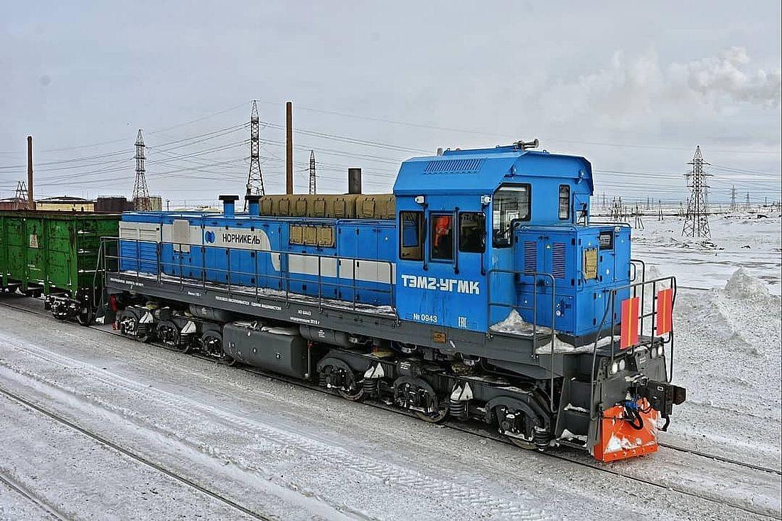 Первый модернизированный тепловоз ТЭМ2-УГМК – шестиосный односекционный локомотив мощностью 1200 лошадиных сил