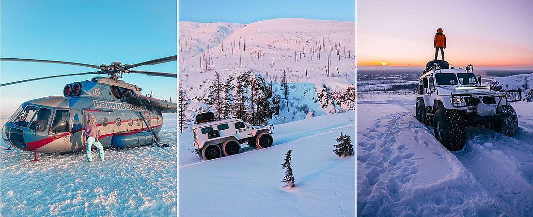 Вертолет – не единственный способ передвижения. До отдаленных поселков или стойбищ добраться можно и на современной внедорожной технике