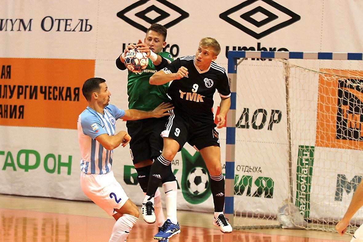 МФК «Норильский никель» уступил в первом матче 1/4 финала плей-офф Суперлиги