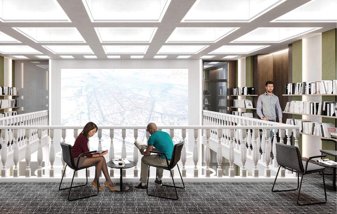 Визуализация актового зала на 6 этаже