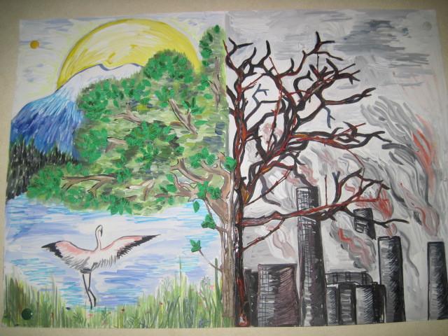 рисунки об экологии природы для детей