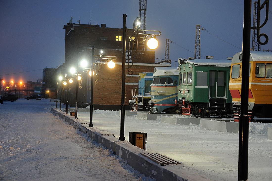 В Норильске благоустроили площадку железнодорожного музея под открытым небом