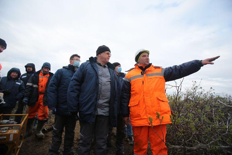 Он побывал на ТЭЦ-3 и оценил оперативность спасательных работ на реке Амбарной