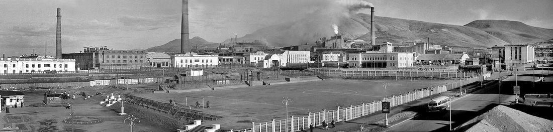 Вид на стадион «Труд» в Соцгороде