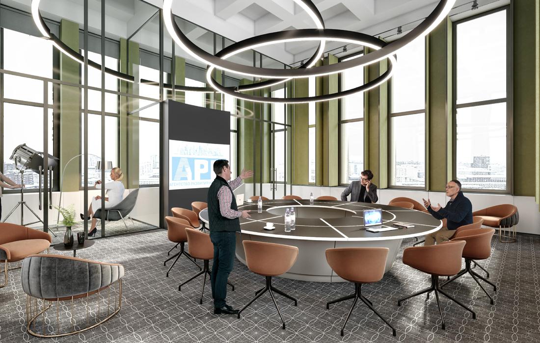 Визуализация актового зала на 7 этаже, в «башне»
