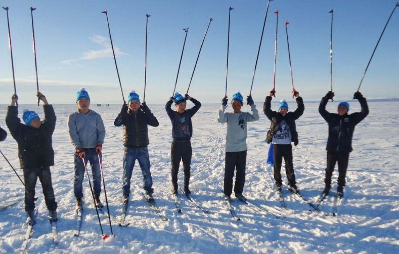 Спортсмены таймырского поселка Хантайское Озеро показали отличные результаты в лыжных гонках