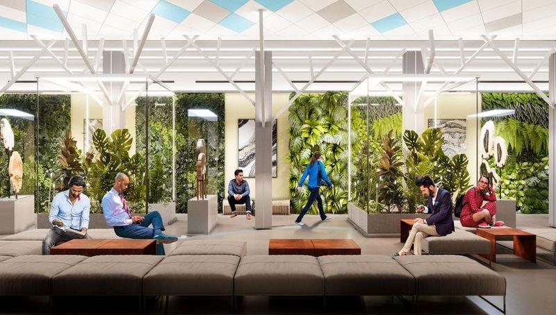 Визуализация будущего 1-го этажа в здании на Ленинском, 1