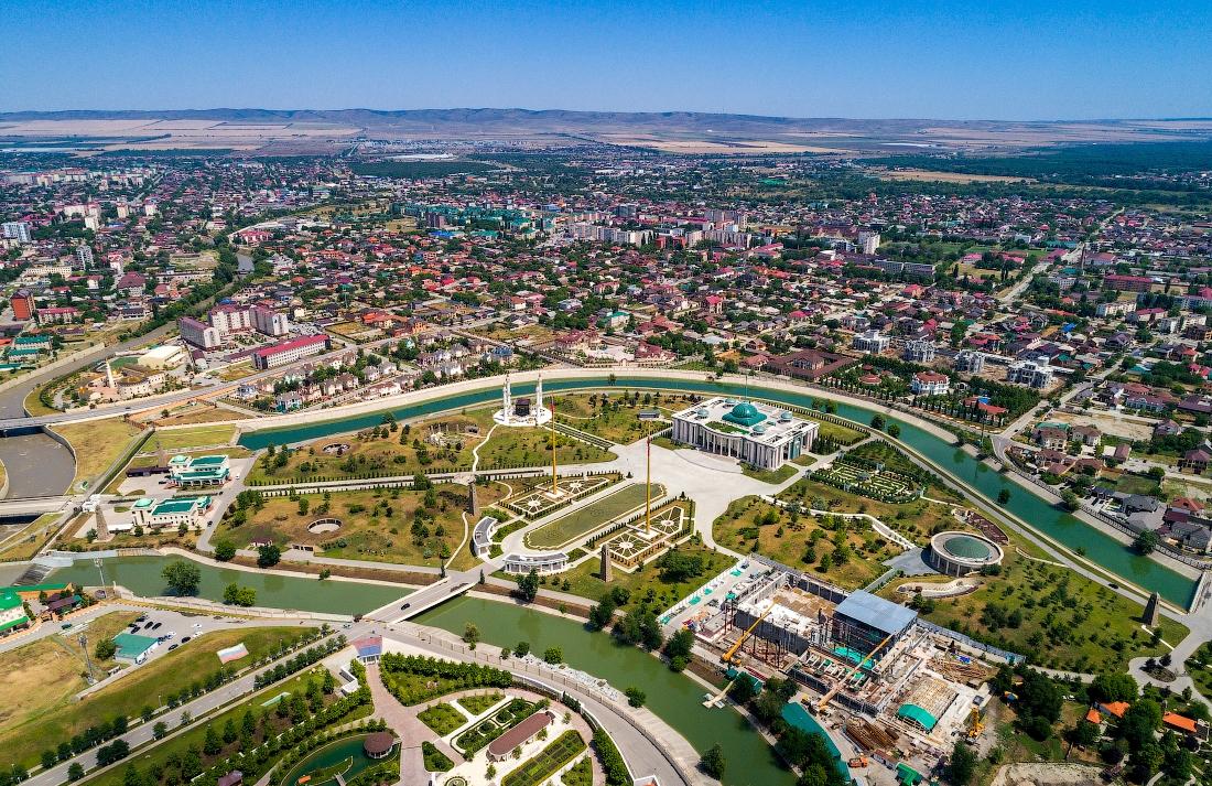 Современный Грозный. Резиденция главы Чеченской республики