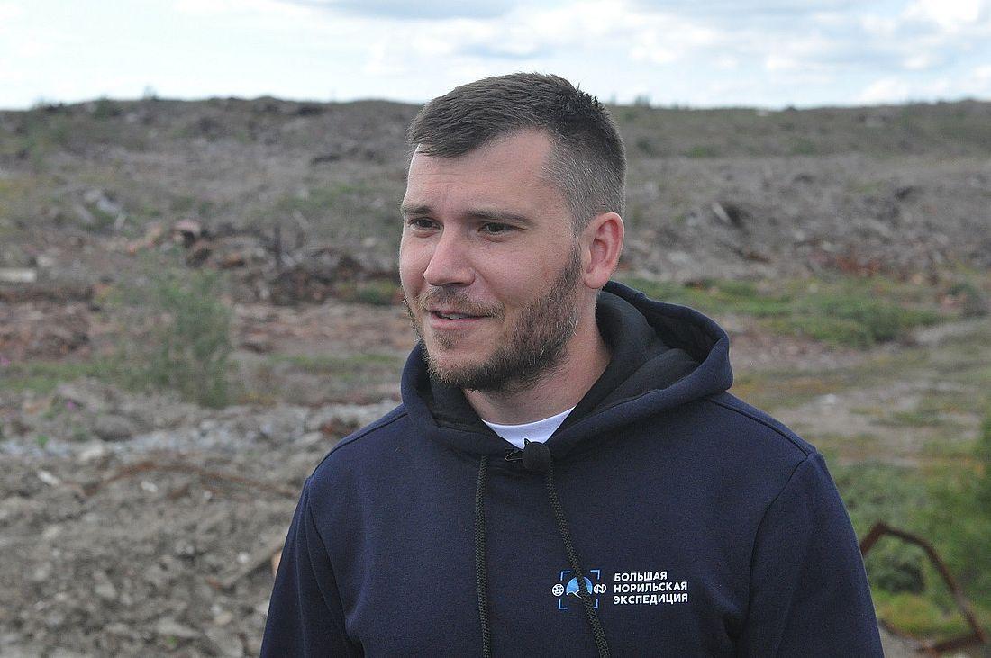 Николай Юркевич во время полевых работ Большой норильской экспедиции