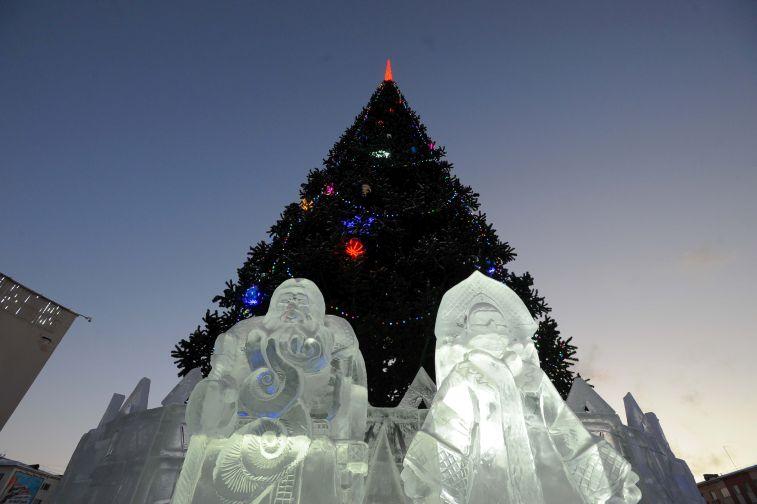 Норильчан ждет фейерверк на торжественном открытии главной городской елки