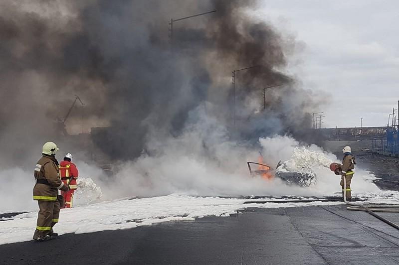 В результате инцидента на ТЭЦ-3 произошла утечка нефтепродуктов и их возгорание
