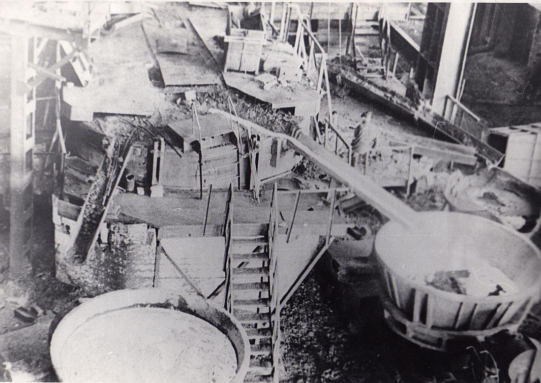 Первая плавка черновой меди на Медном заводе, 21 декабря 1949 года