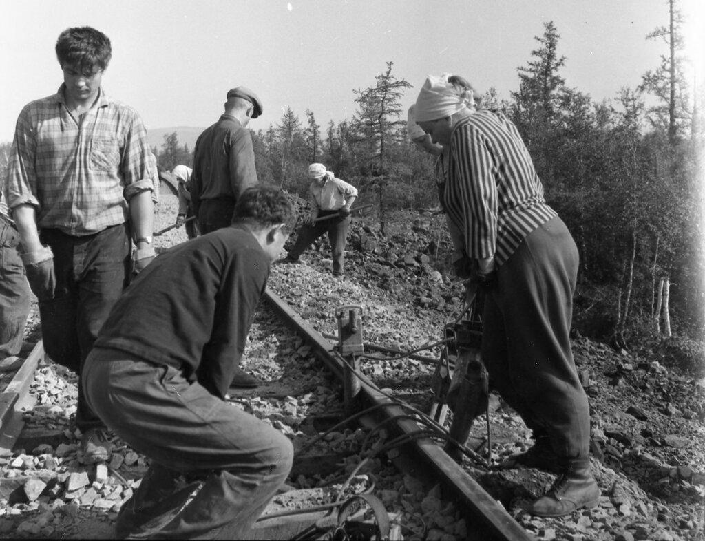 Строительство железной дороги Норильск – Талнах, 1963 год