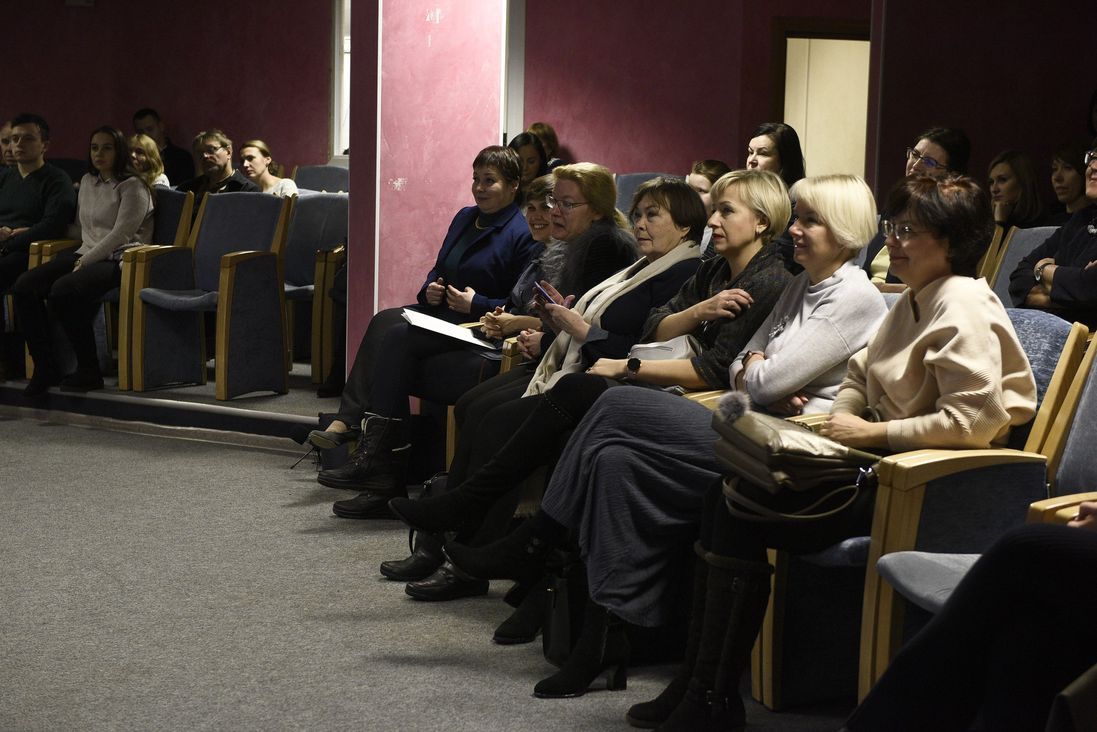 На лекции в Публичной библиотеке