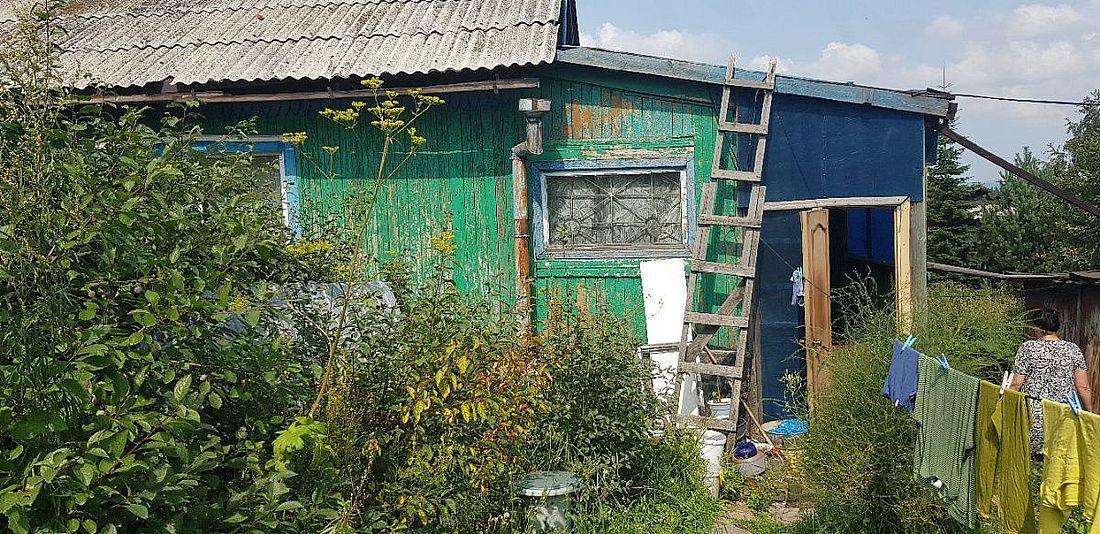 Один из частных домов на улице Норильской