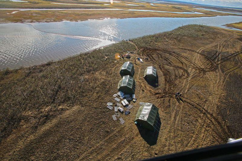 Спасатели оперативно развернули полевой лагерь и приступили к работе