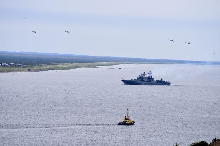 Учебный бой за высадку морского десанта Северного флота состоялся сегодня на Таймыре