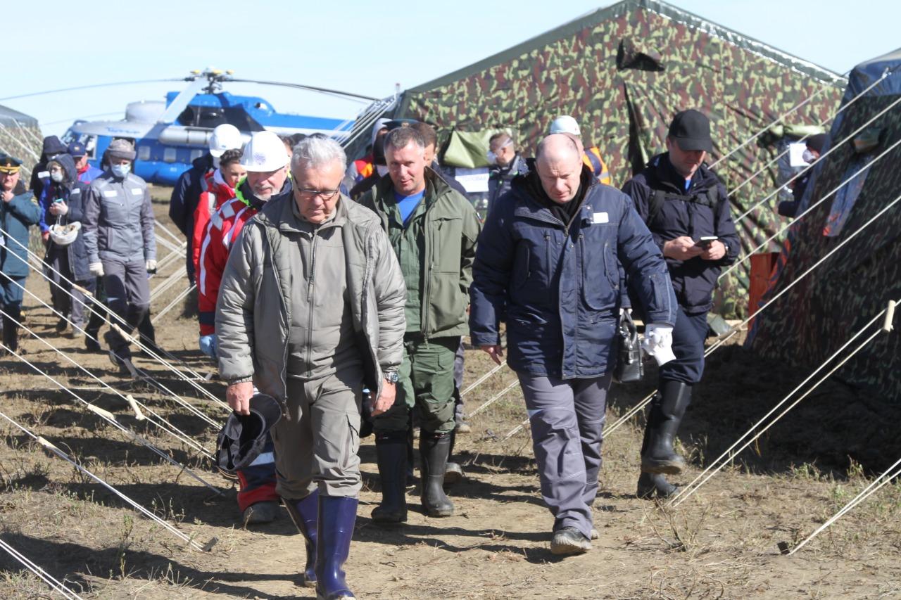 Президент «Норникеля» Владимир Потанин и губернатор Красноярского края Александр Усс