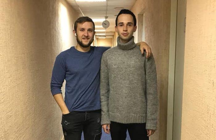 Александр Носырев с Ильей Поляковым