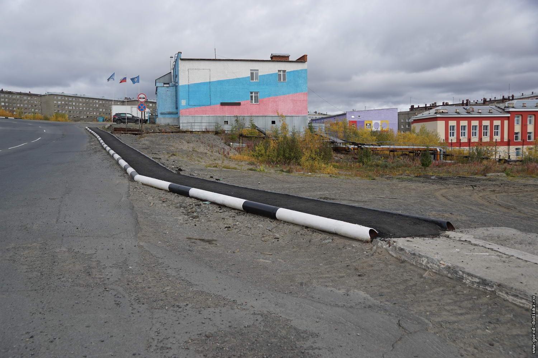 В Дудинке появилось более двух километров тротуаров