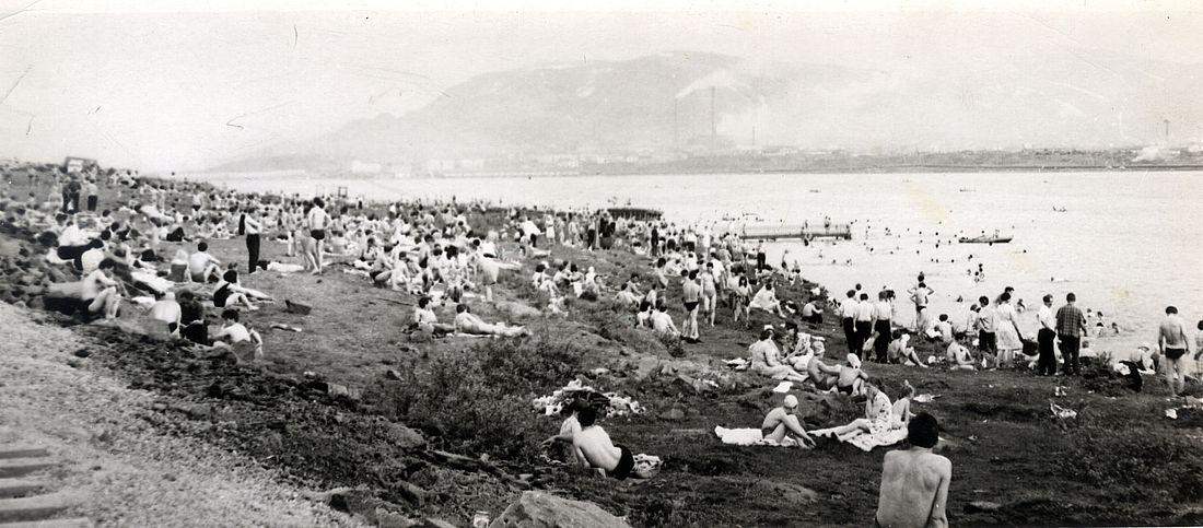 Пляж на Долгом, 1960-е