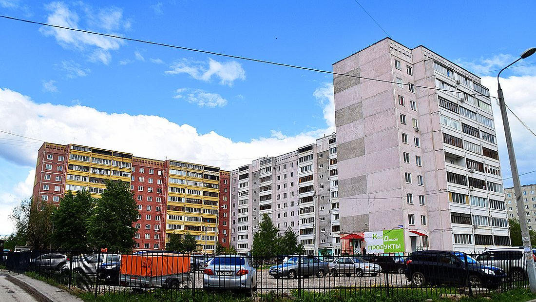 Один из дворов на улице Норильской в Перми