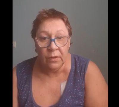 Скриншот видеообращения Натальи Плотниковой