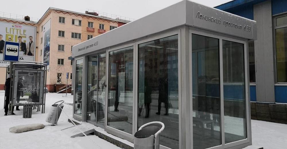 Три теплые автобусные остановки в Норильске будут готовы к концу недели