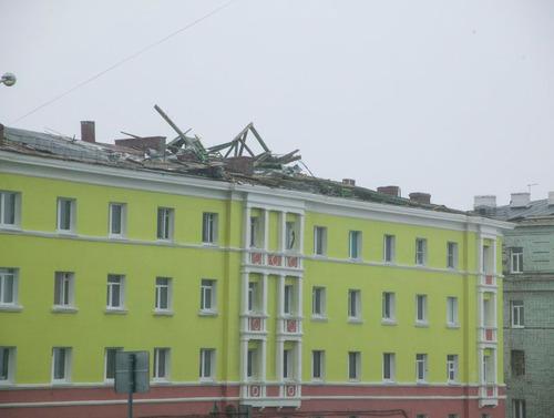 Последствия шторма в Норильске