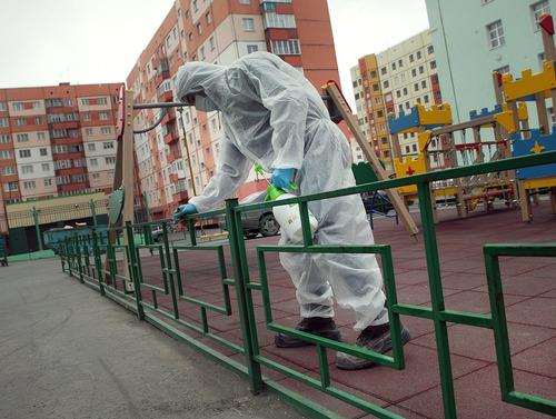 Дезинфекция детских площадок в Норильске