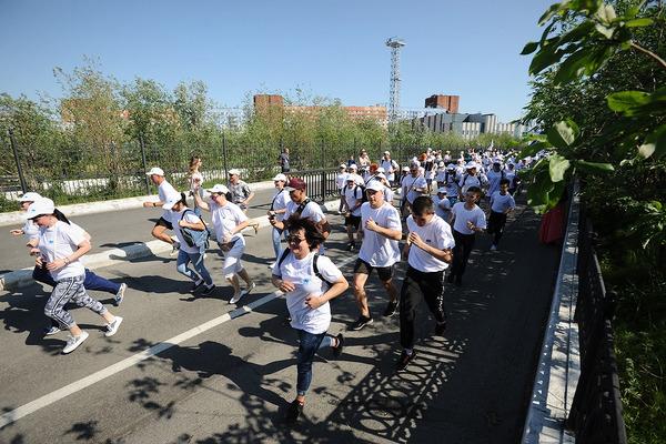 Норильчане приняли участие в традиционном массовом забеге