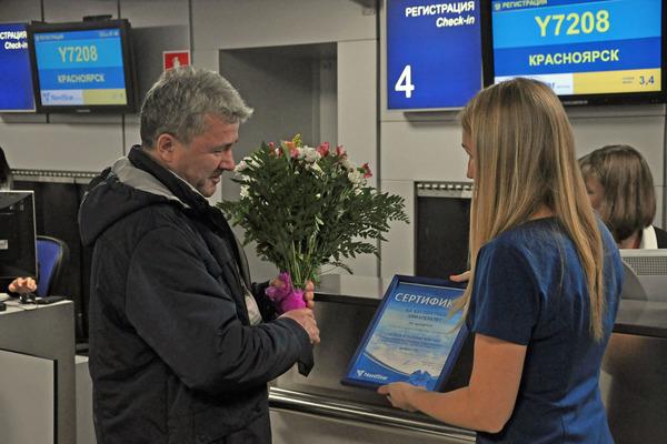 Авиакомпания NordStar перевезла миллионного пассажира в этом году почти на два месяца раньше, чем в прошлом