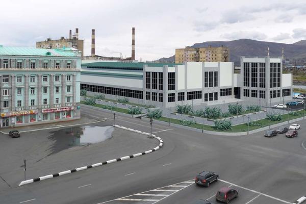 """Физкультурно-оздоровительный комплекс, возведение которого профинансирует """"Норникель"""", предлагается построить в Норильске на ул. 50 лет Октября"""