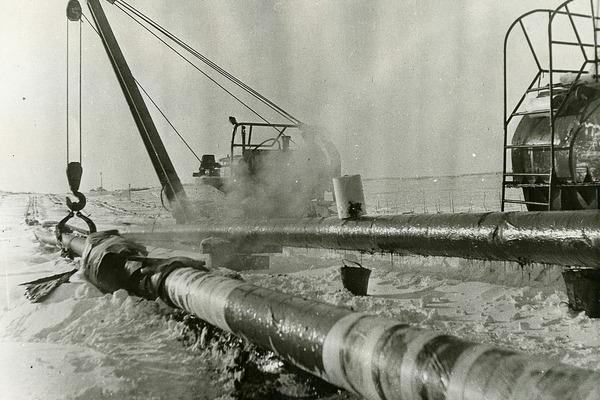 Подводный переход газопровода через Енисей стал первым, построенным в Заполярье