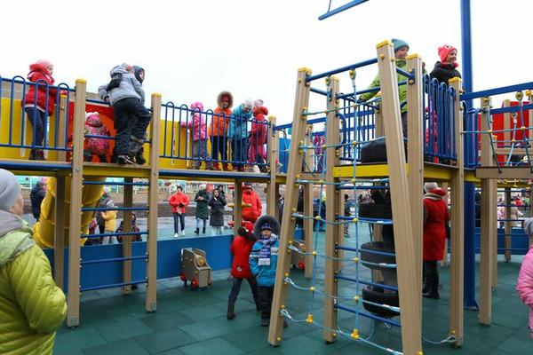 В Оганере открыли детскую игровую площадку