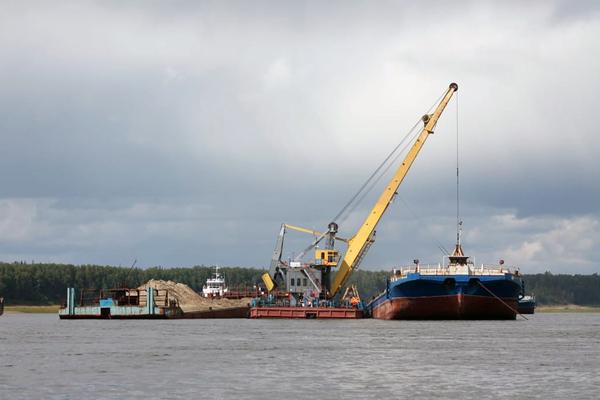 Енисейское речное пароходство завершило доставку песка для нужд «Норникеля»