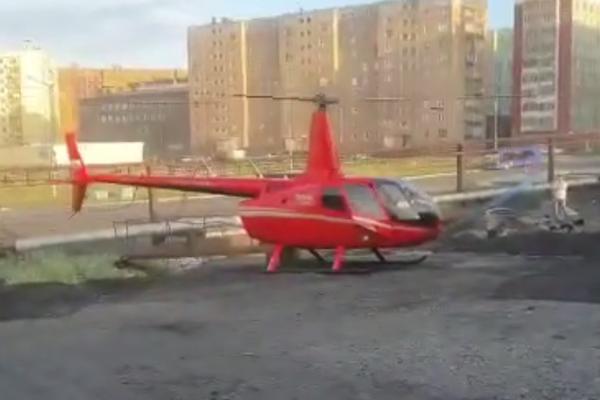 В Норильске оштрафовали пилота, посадившего вертолет в черте города