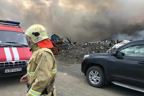 Под Норильском загорелся полигон промышленных отходов