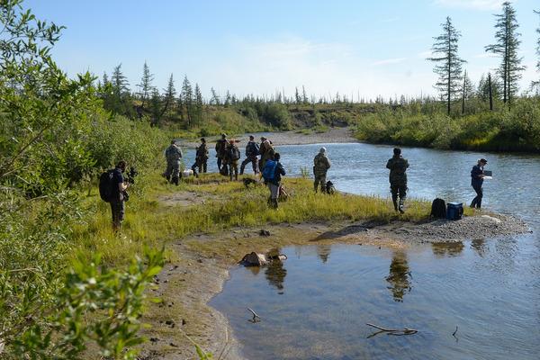 Ученые осмотрели участки до места впадения реки Далдыкан в Амбарную