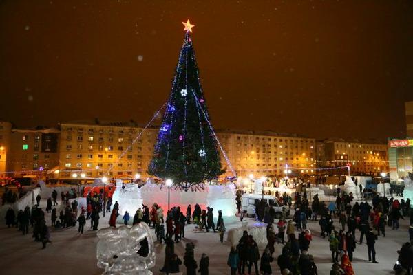 Состоялось торжественное открытие снежного городка в Норильске